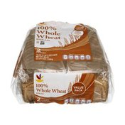 Ahold 100% Whole Wheat Bread Value Pack - 2 CT