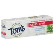 Tom's of Maine Toothpaste, Sensitive, Soothing Mint