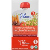 Plum Organics Stage 3 Carrot, Chickpea, Pea, Beef & Tomato Baby Food