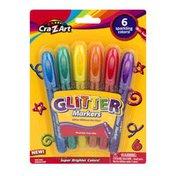 Cra-Z-Art Glitter Markers - 6 CT
