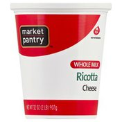 Market Pantry Ricotta Cheese, Whole Milk