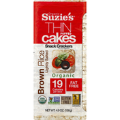 Suzie's Thin Puffed Cakes, Organic, Brown Rice, Lightly Salted