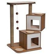 Hagen Walnut Vesper Double Cat Tree Furniture