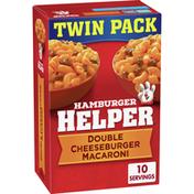 Hamburger Helper Double Cheeseburger Macaroni Pasta Meal Twin Pack