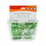 Full Circle Ziptuck, Reusable Snack Bags, Palm Leaves
