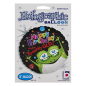 """Betallic 18"""" Holographic Balloon Happy Birthday You're Toadally Old!"""