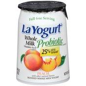 La Yogurt Probiotic Peach Blended Whole Milk Yogurt