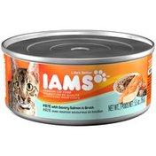 IAMS Adult Pate with Savory Salmon Cat Food