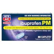 Rite Aid Pharmacy Ibuprofen PM, Caplets, 80 caplets