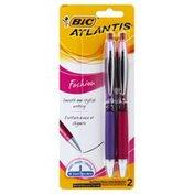 BiC Ball Pens, Medium, Black Ink