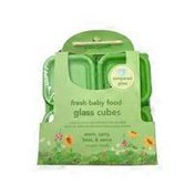 green sprouts 4oz Reusable Baby Food Glass Containers Freezer Cubes