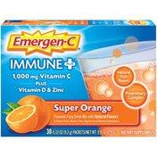 Emergen-C Immune+ Fizzy Drink Mix Pkts Super Orange, Immune+ Fizzy Drink Mix Pkts Super Orange