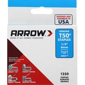 Arrow Staples, Genuine T50, 6 mm