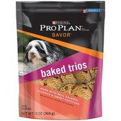 Purina Pro Plan Savor Baked Trios Salmon Carrots & Sweet Potatoes Dog Treats Snack