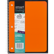 Smart Living Notebook, 3 Subject, Blue, College Ruled, 120 Sheets