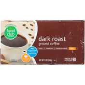 Food Club Dark Roast 100% Ground Coffee