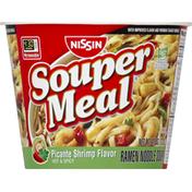Nissin Ramen Noodle Soup, Picante Shrimp Flavor, Hot & Spicy