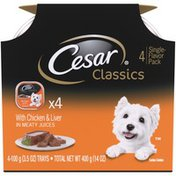 CESAR Classics with Chicken & Liver in Meaty Juices Wet Dog Food