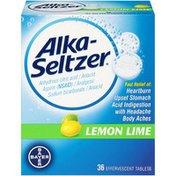 Alka-Seltzer Lemon Lime Effervescent Tablets Antacid/Analgesic