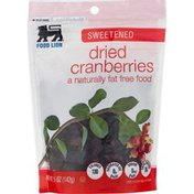 Food Lion Cranberries, Dried, Sweetened, Pouch