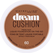 Maybelline Liquid Foundation, On-The-Go, Warm Cocoa 60