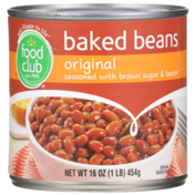 Food Club Original Baked Beans Seasoned With Brown Sugar & Bacon