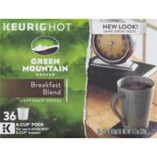 Green Mountain Coffee Breakfast Blend Light Roast Coffee K-Cup Pods