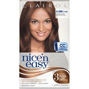 Clairol Nice 'n Easy 4.5RB 112A Natural Dark Reddish Brown 1Kit  Female Hair Color
