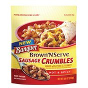 Banquet Brown N Serve Hot N Spicy Sausage Crumbles