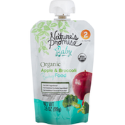 Nature's Promise Baby Food, Organic, Apple & Broccoli, 6+ Months