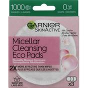 Garnier Makeup Removers, Reusable, Micellar Cleansing, Eco Pads