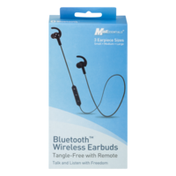 MobilEssentials Bluetooth Wireless Earbuds Tangle-Free With Remote
