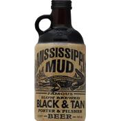 Mississippi Mud Beer, Porter & Pilsner, Black & Tan