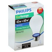 Philips Light Bulbs, Soft White, 43 Watts
