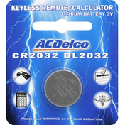 ACDelco Battery, Lithium, 3V