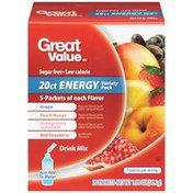 Great Value Grape/Peach Mango/Pomegranate Lemonade/Wild Strawberry Energy  Drink Mix