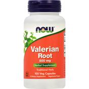 Now Valerian Root, 500 mg, Veg Capsules