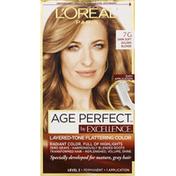 Excellence Permanent Haircolor, Dark Soft Golden Blonde 7G