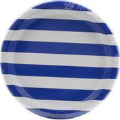 Creative Converting Plates, Dots & Stripes, Cobalt