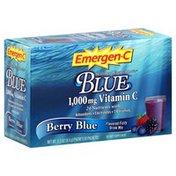 Emergen-C Flavored Fizzy Drink Mix, Berry Blue