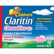 Claritin 24 Hour Allergy Bubblegum Chewable Tablet