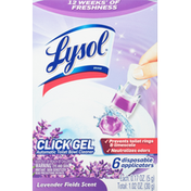 Lysol Automatic Toilet Bowl Cleaner, Lavender Fields Scent, Click Gel