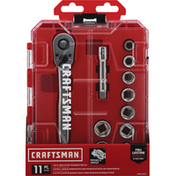 Craftsman Mechanics Tool Set, 11 Piece, Drive Metric, 3/8 Inch