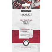 Freeman Facial Mask, Peel-Off, Revitalizing, Pomegranate + Peptides