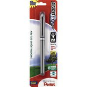 Pentel Gel Pen, Smooth Liquid, Medium, Black Ink