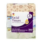 Ahold Facial Tissues Soft & Gentle 3-Ply - 3 PK
