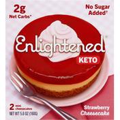 Enlightened Cheesecakes, Strawberry, Mini