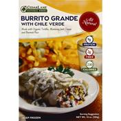 Cedarlane Foods Burrito Grande, with Chile Verde