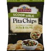 Toufayan Pita Chips, Feta & Olive