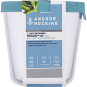 Anchor Hocking Container + Truseal Lid, Mineral Blue